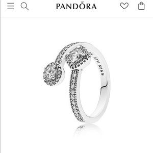 Pandora Abstract Elegance Ring Sz 8